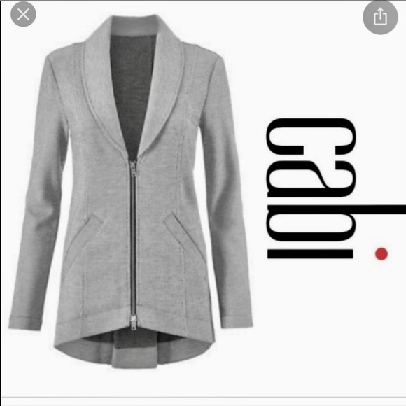 CAbi Jackets & Blazers - Cabi Stiped Zip-Up Jacket Worn Once
